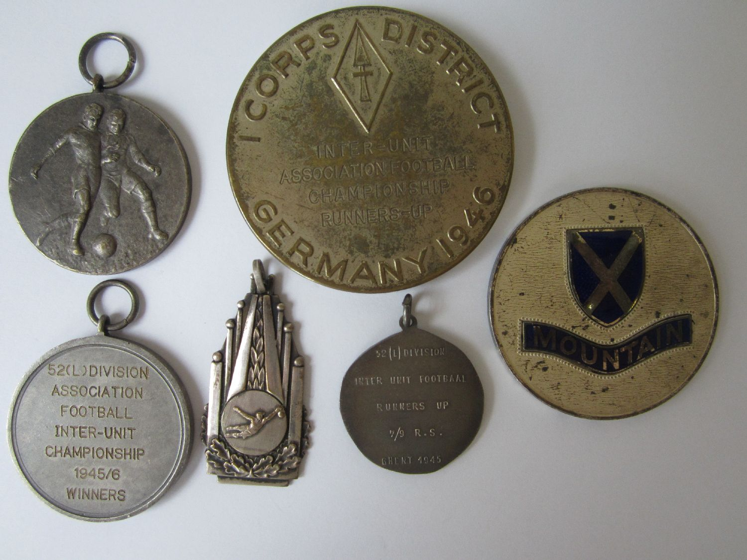 Lot 50 - EDDIE BAILY Six metal medals awarded to Eddie Baily during his time in the British Army . All are