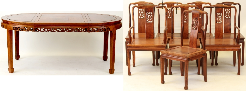 Property of a lady - a Chinese huanghuali circular dining table