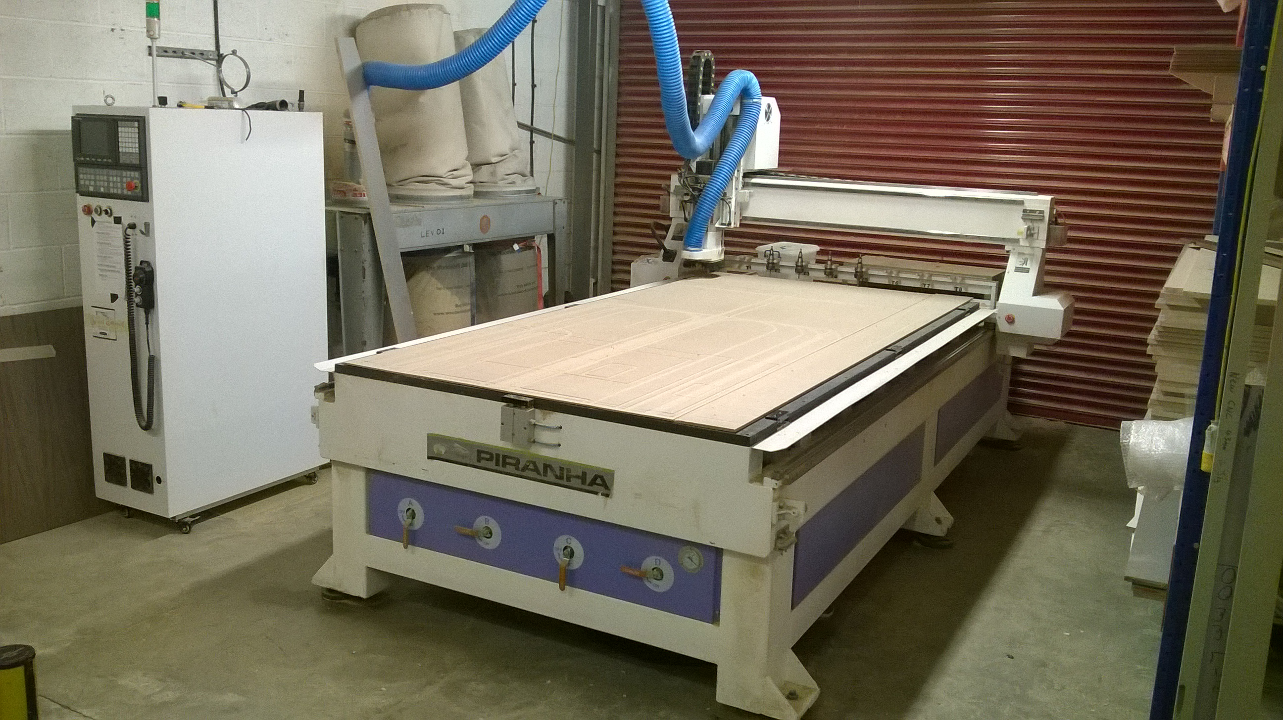 Piranha ATC 1530 3 AXIS CNC ROUTER, 1500mm x 3000mm Table Size, Serial ...