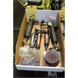 LOT OF PNEUMATIC ANGLE GRINDERS, w/consumables