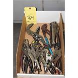 LOT CONSISTING OF: pliers, vise-grips, channel locks