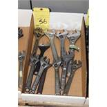 LOT OF CRESCENT WRENCHES