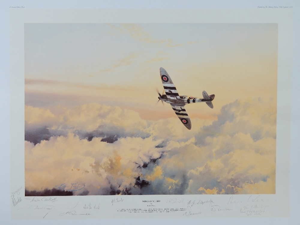 Lot 4 - Limited Edition print; 'Wings of Glory' by Robert Taylor, No 36 of 500,