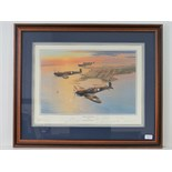 Lot 31 - Presentation Print; 'Spitfires over Darwin' by Robert Taylor signed by the artist and eight others,