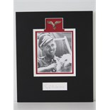 Lot 32 - A mounted facsimile photograph signed under Erich Hartman,