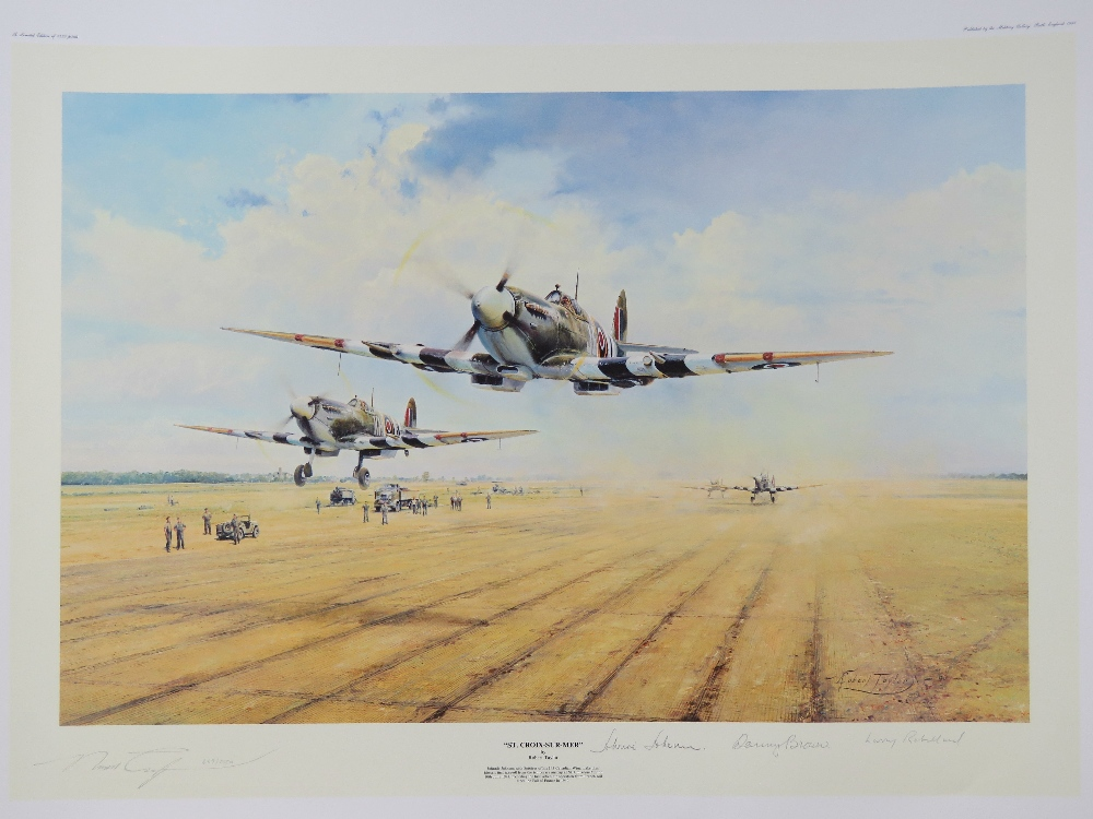 Lot 23 - Limited Edition print: 'St Croix-sur-Mer' by Robert Taylor, No 669 of 1250,