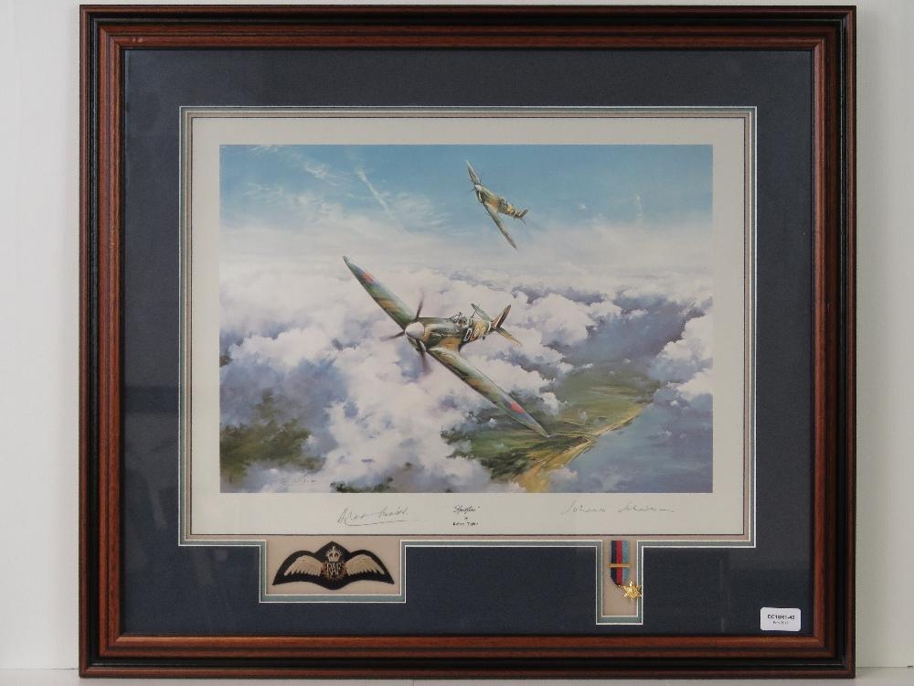 Lot 27 - Print; 'Spitfire' by Robert Taylor,
