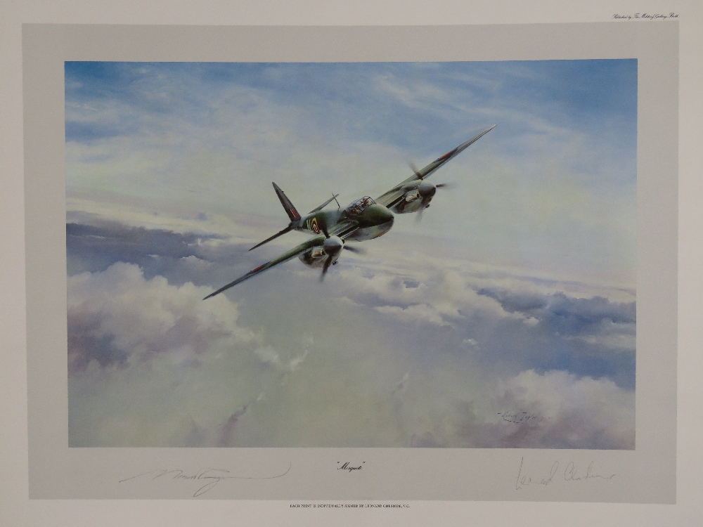 Lot 29 - Print; 'Mosquito' by Robert Taylor, signed by the artist and Group Captain Leonard Cheshire,