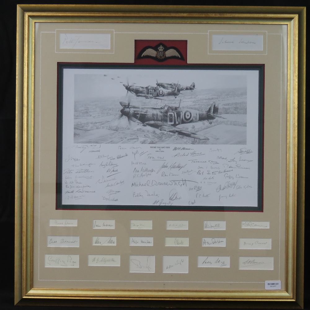 Lot 11 - Limited Edition print; 'Those Valiant few' by Robert Taylor, No 106 of 165,