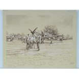 Lot 38 - Limited Edition print; 'Welcoming Respite' by Robert Taylor, No 121 of 150,
