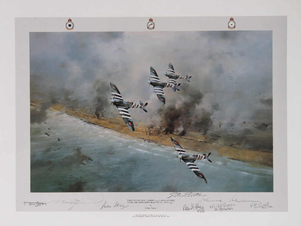 Lot 44 - Print; 'Johnny Johnson leading 144 Canadian Wing' by Robert Taylor,
