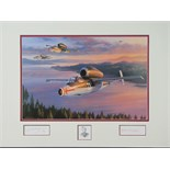 Lot 25 - Coloured print by Nicolas Trudgeon, No 163 of 250 early jet plane,
