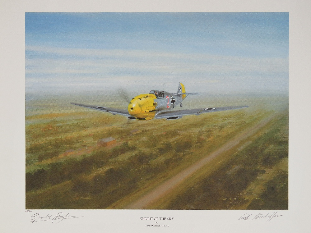 Lot 52 - Limited Edition print; 'Knight of the Sky' by Gerald Coulson, No 65 of 300,