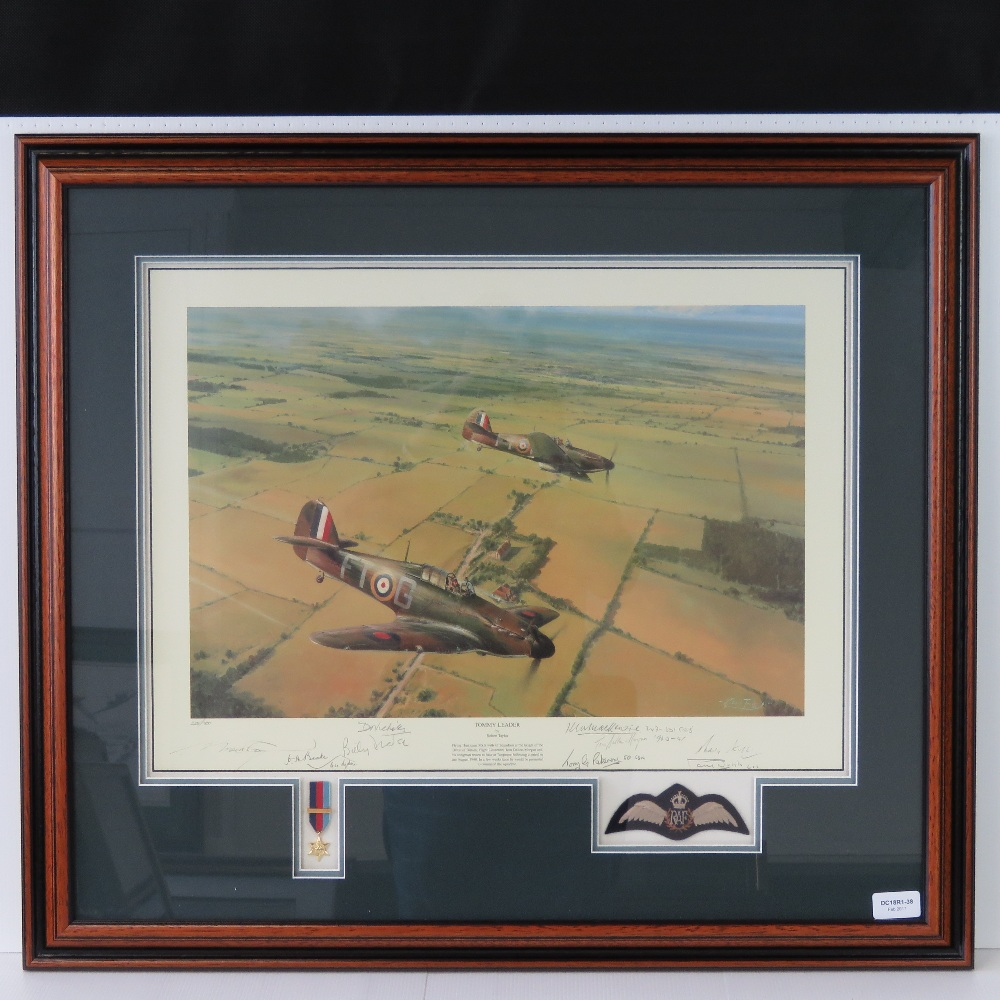 Lot 40 - Limited Edition print; 'Tommy Leader' by Robert Taylor, No 228 of 700,