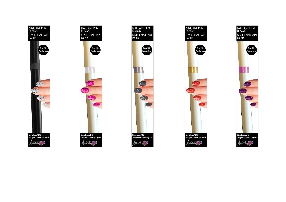 Lot 16 - 100 Andrea Fulerton Nail Art Pens – NO VATBrand New – Mixed Shades- Individually Boxed UK