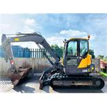 VOLVO ECR88D RUBBER TRACKED DIGGER / EXCAVATOR, YEAR 2015, 4148 HOURS, 3 X BUCKETS, AIR CON, RADIO