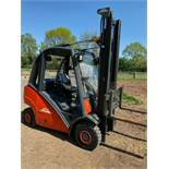 LINDE 2.5 TON, MODEL: H25D, 3.7 METRE LIFT, DUPLEX, SIDE SHIFT, ONLY 600 HOURS FROM NEW, 1 OWNER