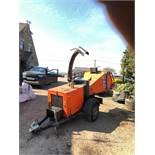 TIMBERWOLF TW150DHB SINGLE AXLE TOWABLE WOOD CHIPPER, RUNS, WORKS AND CHIPS *PLUS VAT*