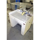 Lot 24 - DOWNDRAFT TABLE, AIRFLOW SYSTEMS MDL. EASY BENCH, w/small belt sander (Location 2 - Fallstone A)