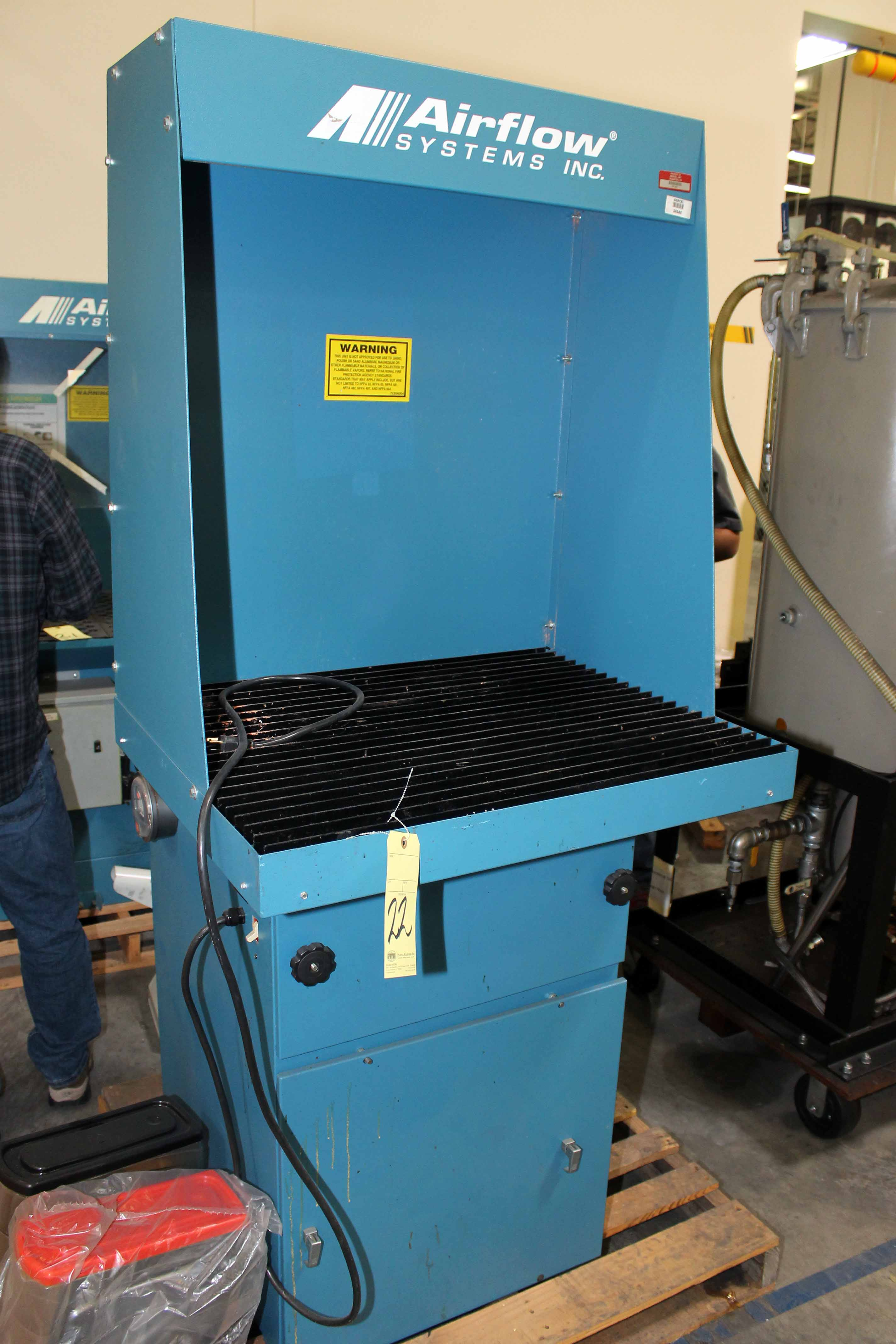 Lot 22 - DOWNDRAFT WORKBENCH, AIRFLOW SYSTEMS, 115 v., sgl. phase (Location 1 - Techway)