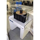 DOWNDRAFT TABLE, AIRFLOW SYSTEMS MDL. EASY BENCH, w/Delta Mdl. SA350 bench oscillating spindle
