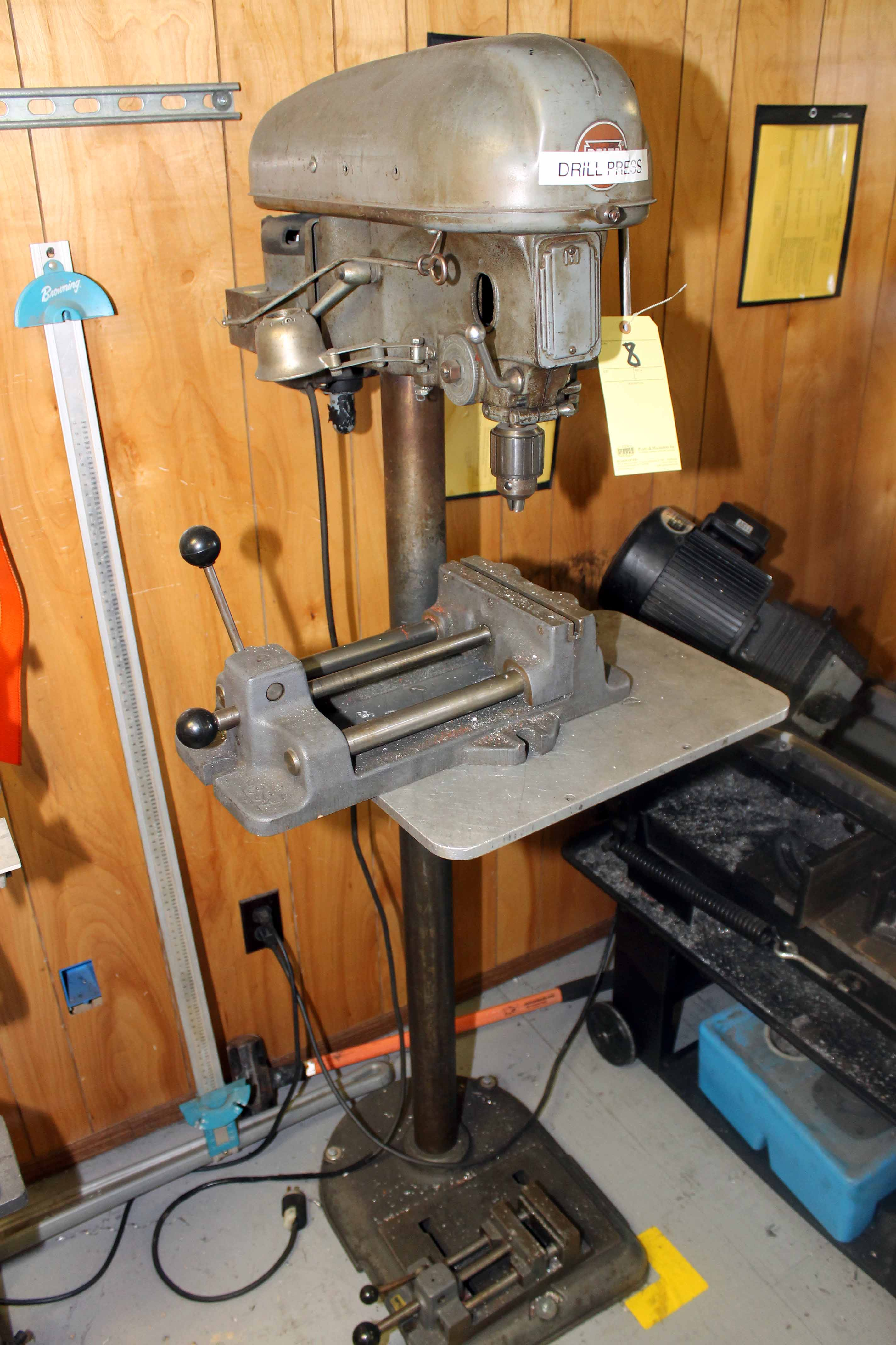 Lot 8 - FLOOR TYPE DRILL PRESS, DELTA, S/N 114-3032 (Location 4 - Park Row)