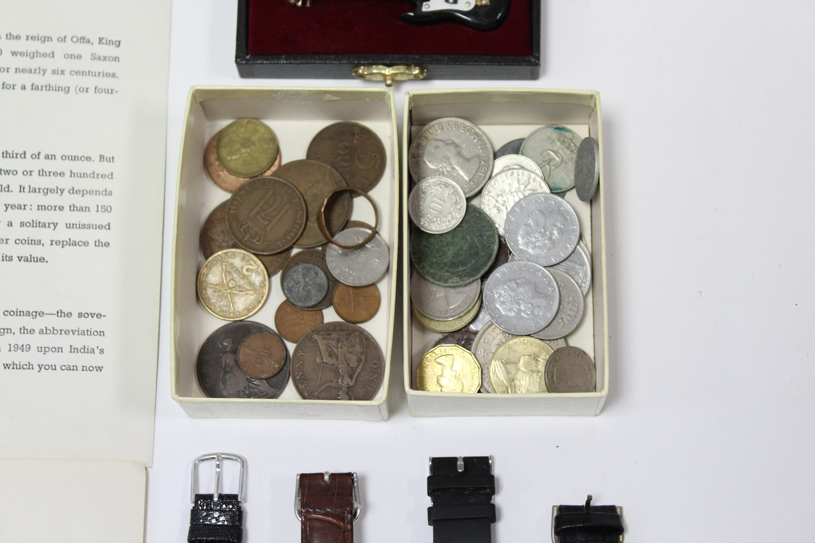 Lot 268 - Twenty two various ladies' & gents wristwatches; together with various coins, etc.