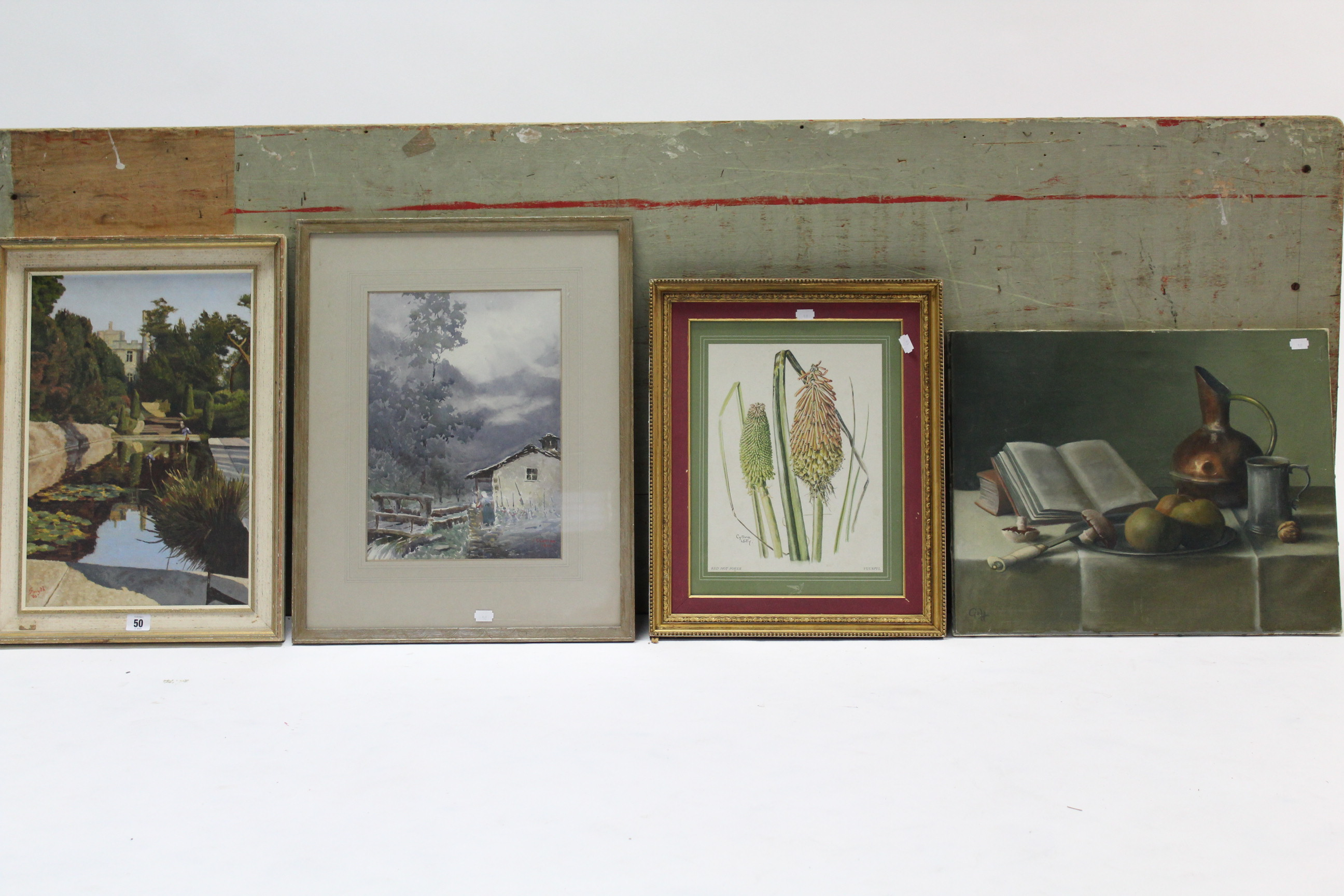 Lot 50 - Various decorative paintings, prints & picture frames.