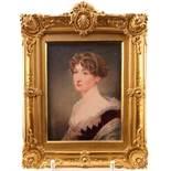 λ John Cox Dillman Engleheart (1782/4-1862)Portrait miniature of a young lady, head and shoulders in