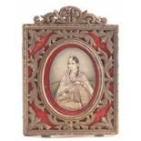λ Anglo-Indian School c.1830Portrait miniature of Maham Begum, wife of Muhammed Baber Babshah who