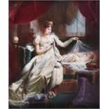 λ After Joseph Franque (French 1774-1833)The Empress Marie Louise watching over the sleeping King of