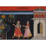 Deccan, probably Hyderabad c. 1740A Chowki marriage ceremony, probably a Nizam, from a dated