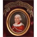 French School 18th CenturyPortrait miniature of Alexis de Gaffard, Conseiller en la Cour de