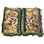 Lot 893 - A pair of 17th/18th Century Flemish tapestry fragment cushions,