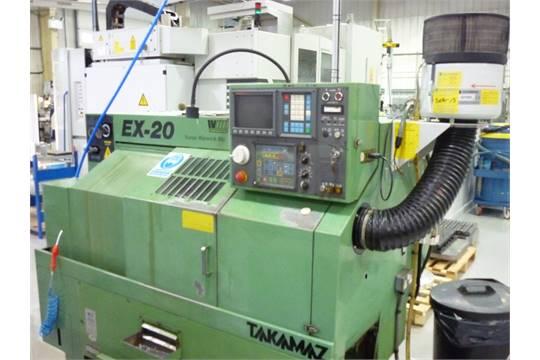 Takamaz EX20 CNC Lathe  1991, Fanuc 0T Control, 12 Station Turret +
