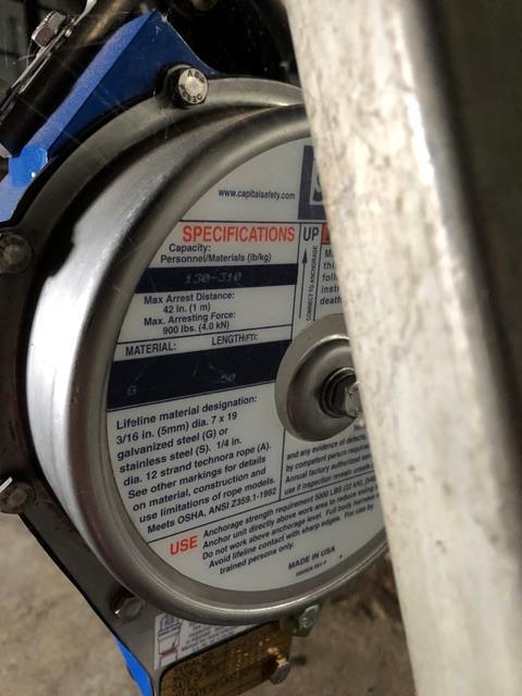 Capital Safety Tripod Chain Hoist, S/N #084061, Model #3400115, DOM = 2007 - Image 4 of 5