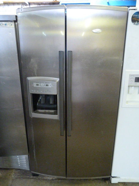 American Fridge With Ice Dispenser Part - 46: Lot 19 - Philips Whirlpool American Style Fridge Freezer With Ice Maker U0026  Water Dispenser In