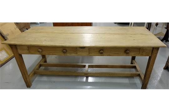 Long Farmhouse Pine Refecry Table With