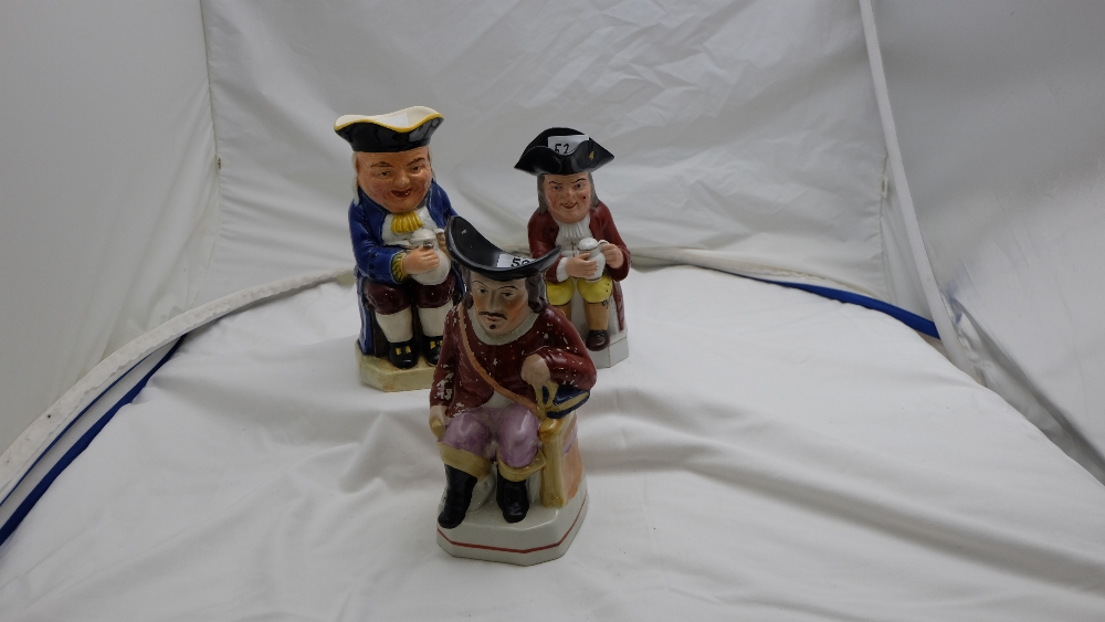 Lot 52 - 3 Character Jugs, tavern figures (3)