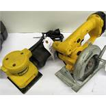"DeWalt DW411 1/4"" Sheet Heavy Duty Palm Grip Finishing Sander & 5-3/8"" DeWalt DW935 Cordless Trim"