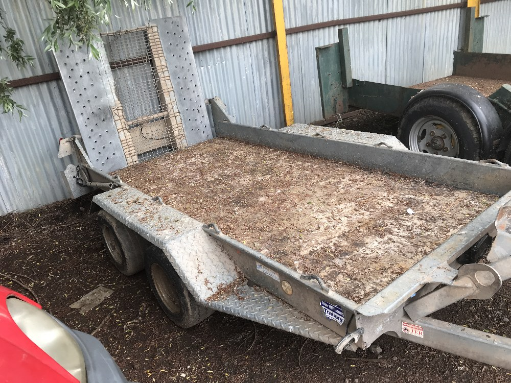 Lot 26 - IFOR WILLIAMS GH94-3 TWIN WHEELED MINI DIGGER TRAILER YEAR 2010 SN:SCK600000A0581518