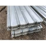 Pack of 25no. 10ft box profile galvanised roof sheets