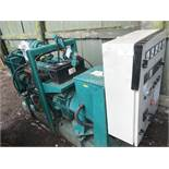GREEN IVECO 70Kva open generator set, low hours, previously used on standby only, direct from