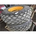 Pair of grass tyres for JCB 926 forklift