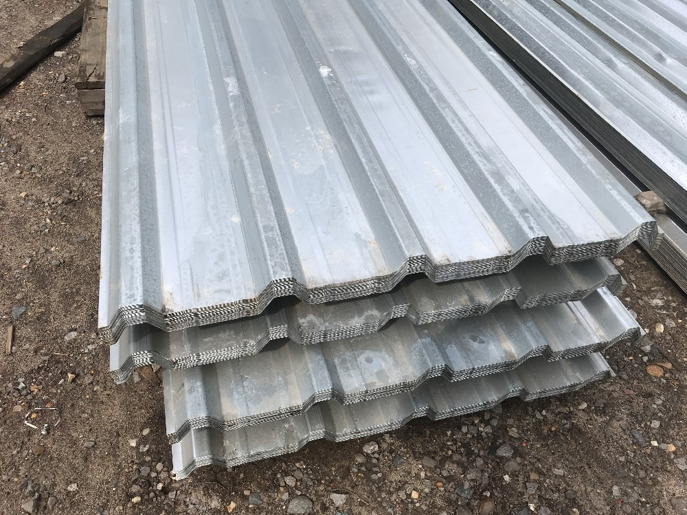 Lot 120 - Pack of 25no. 12ft box profile galvanised roof sheets