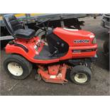 Kubota G2160 diesel mower tractor, reg. EU08 MZV SN: 12402 When tested was seen to run and drive
