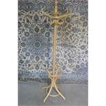 A bentwood full height hat/coat stand, 186cm tall