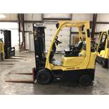 2015 HYSTER 5,000-LB. CAPACITY FORKLIFT, MODEL: S50FT, S/N: H187V02992N, LPG, LEVER SHIFT, 5,821 HRS