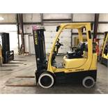 2014 HYSTER 5,000-LB. CAPACITY FORKLIFT, MODEL: S50FT, S/N: F187V25849M, LPG, LEVER SHIFT, 7,237 HRS