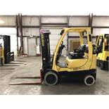 2014 HYSTER 5,000-LB. CAPACITY FORKLIFT, MODEL: S50FT, S/N: F187V25857M, LPG, LEVER SHIFT, 5,262 HRS